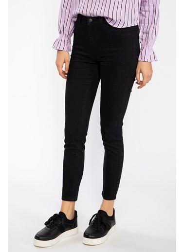 DeFacto Anna Yüksek Bel Super Skinny Fit Denim Pantolon Siyah